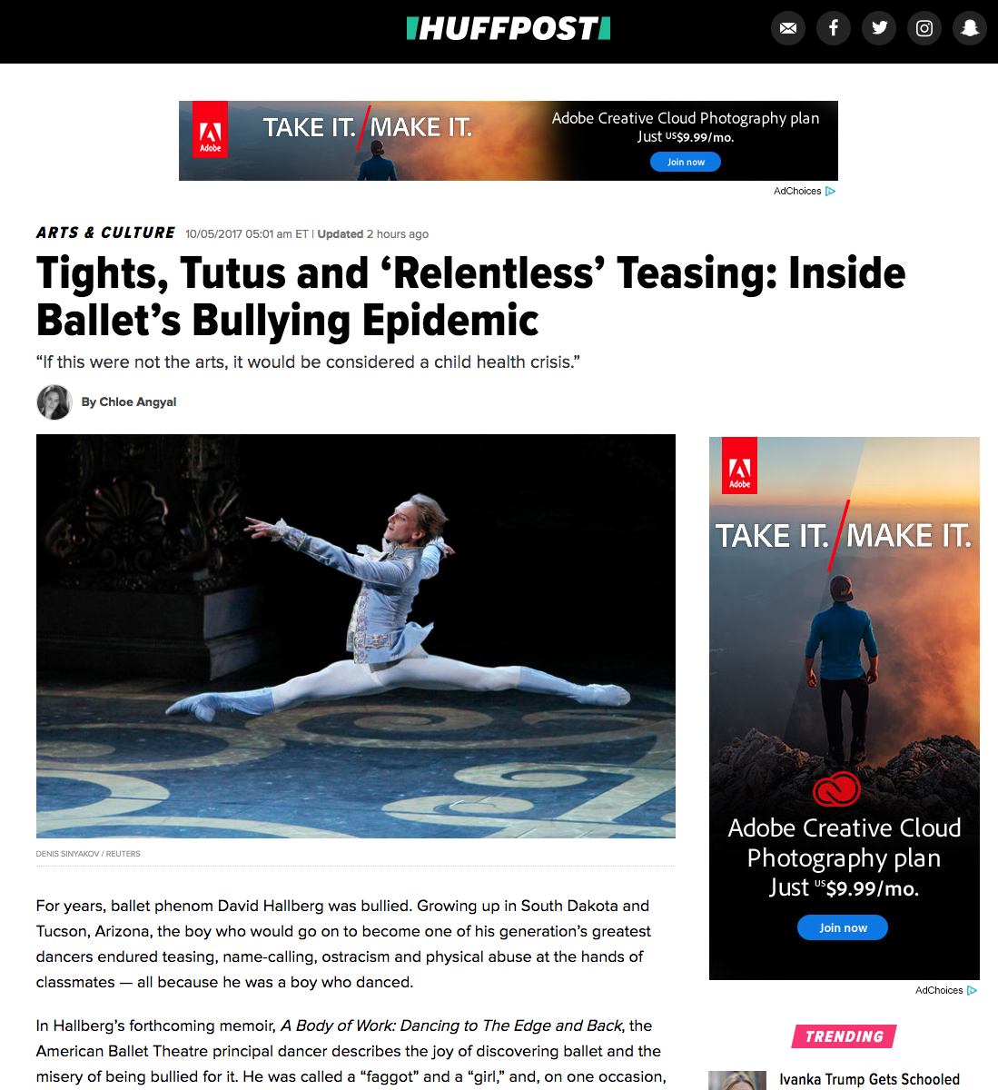 Danseur in Huffington Post